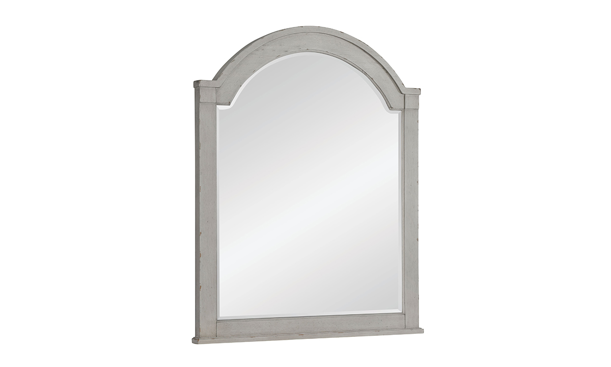 Belhaven Weathered White Arched Mirror