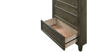 San Mateo Grey Arts & Crafts 6-Drawer Chest