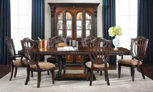 Grand Estates I 5-Piece Dining Set with Wood Side Chairs
