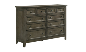 San Mateo Grey Arts & Crafts 10-Drawer Dresser