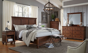 Aspenhome Oxford Whiskey Panel Bedroom Sets
