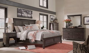 Aspenhome Oxford Peppercorn Panel Bedroom Sets