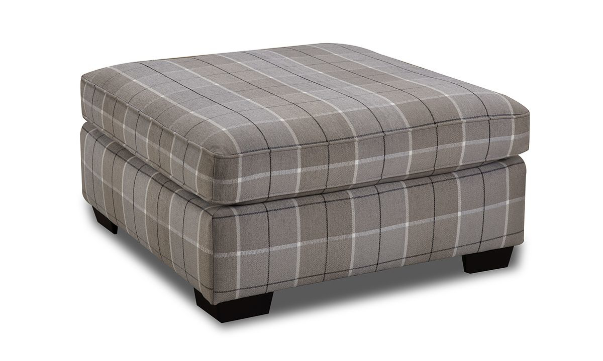41 inch Collins Plaid Ottoman from Main & Co Seating.
