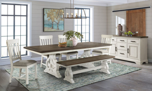 Picture of Drake French Oak 5-Piece Dining Set