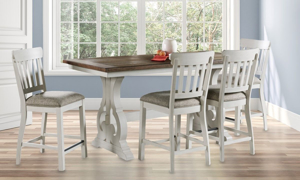 Picture of Drake French Oak Counter Height 5-Piece Dining Set