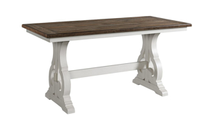 Picture of Drake French Oak Trestle Base Counter Height Dining Table