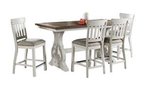 Picture of Drake French Oak Upholstered Counter Height Dining Stool