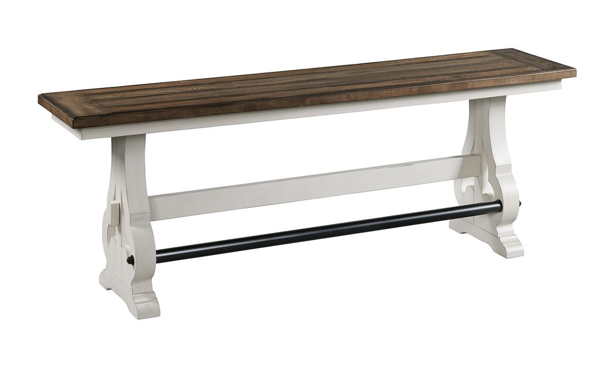 Picture of Drake French Oak Trestle Base Counter Height Bench