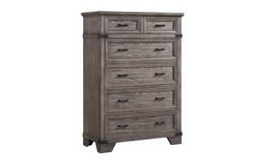 Forge Steel Grey 6-Drawer Chest