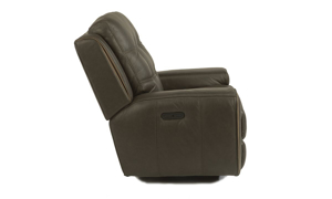 Wicklow Earth Power Leather Glider Recliner