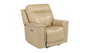 Edson Blonde Power Leather Recliner