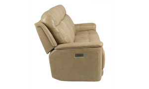Edson Blonde Power Reclining Leather Sofa