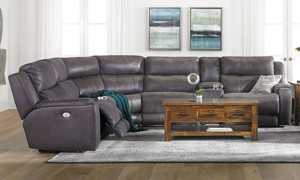 Picture of Infinite Motion Dazzle Slate Power Reclining Storage Sectional