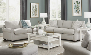 Carolina Custom Collection is made in the usa and features a neutral easy-to-care for fabric.