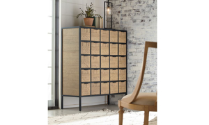 Picture of Magnolia Home Utility Grid Brown 25-Drawer Chest