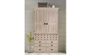 Picture of Magnolia Home Primitive Feather Card Catalogue Armoire