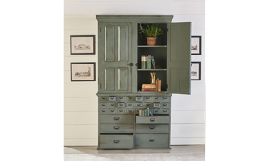 Picture of Magnolia Home Primitive Patina Card Catalogue Armoire