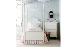 Magnolia Home Camelback White Arched Poster Beds