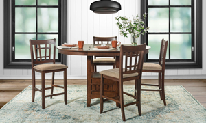 Mission Cherry 5-Piece Counter Height Dining Set