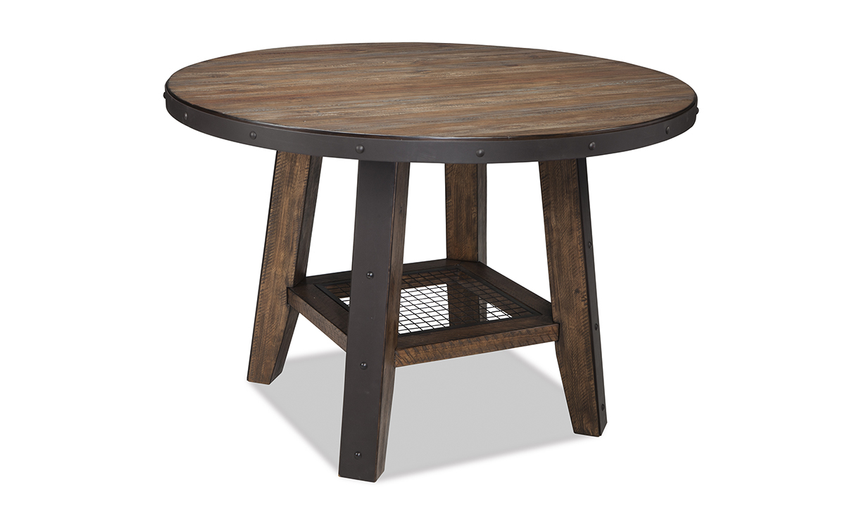 Taos Canyon Brown Round Counter Height Dining Table