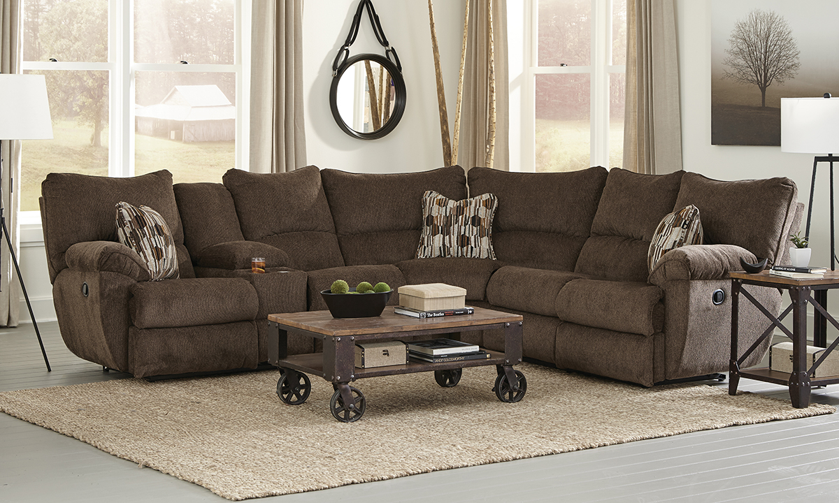 Elliot Chocolate Reclining Sectional