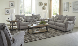 Sadler Mica Dual Power Reclining Sofa with Drop Down Table