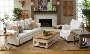 Trisha Yearwood Lawrence Loveseat Merri Natural