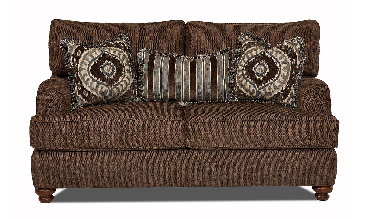 Declan Frenzy Brindle Brown Loveseat
