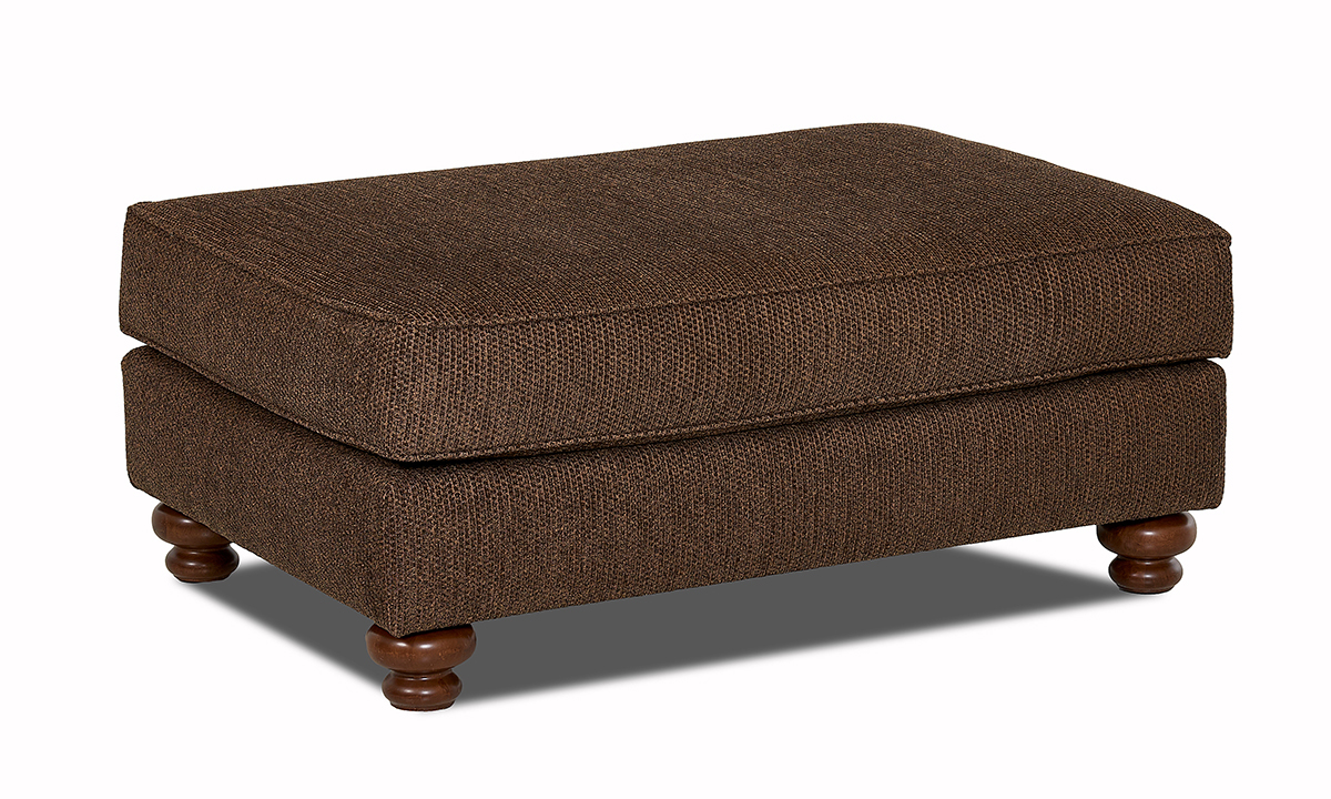 Declan Frenzy Brindle Brown Ottoman