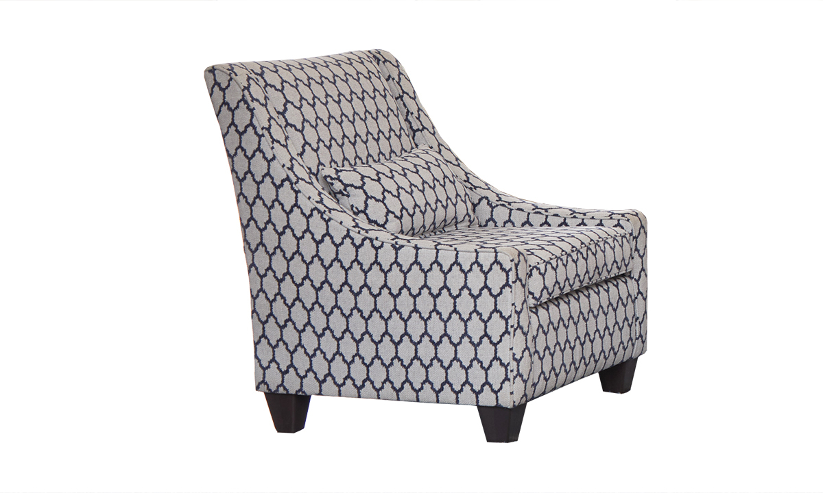 Tangier Jolene Navy Accent Chair