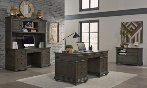 Aspenhome Oxford Peppercorn Executive Desk