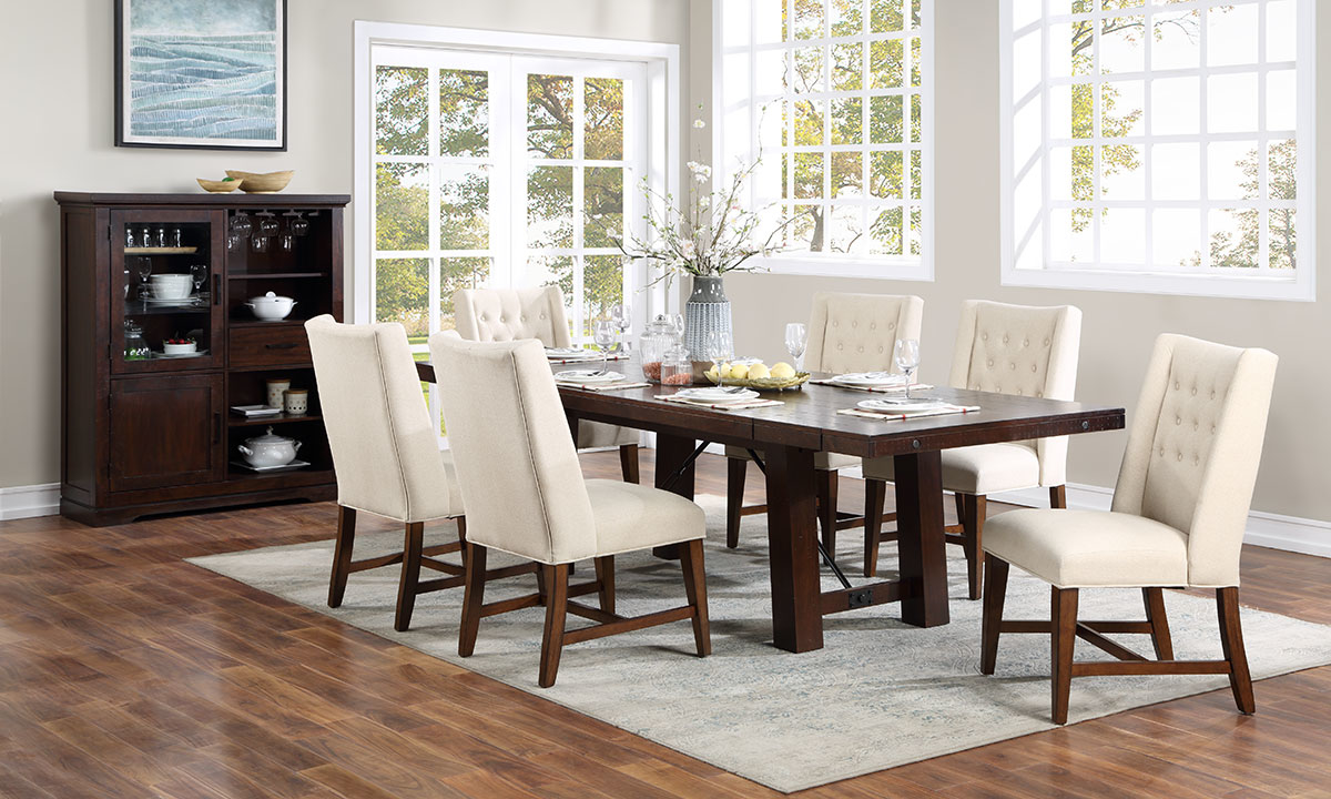 Benchwright Brown Solid Mango Wood 8-Piece Dining Set
