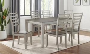 Abacus Alabaster and Honey 5-Piece Dining Set