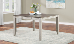 Abacus Alabaster and Honey Counter Height 5-Piece Dining Set