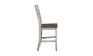 Abacus Alabaster and Honey Counter Height Stool