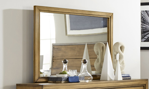 Forest Lane Brown Solid Pine Mirror