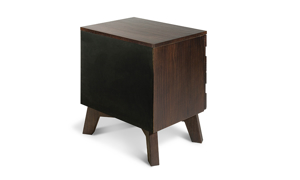 Greentown Brown Solid Pine 2-Drawer Nightstand