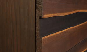 Greentown Brown Solid Pine 5-Drawer Chest