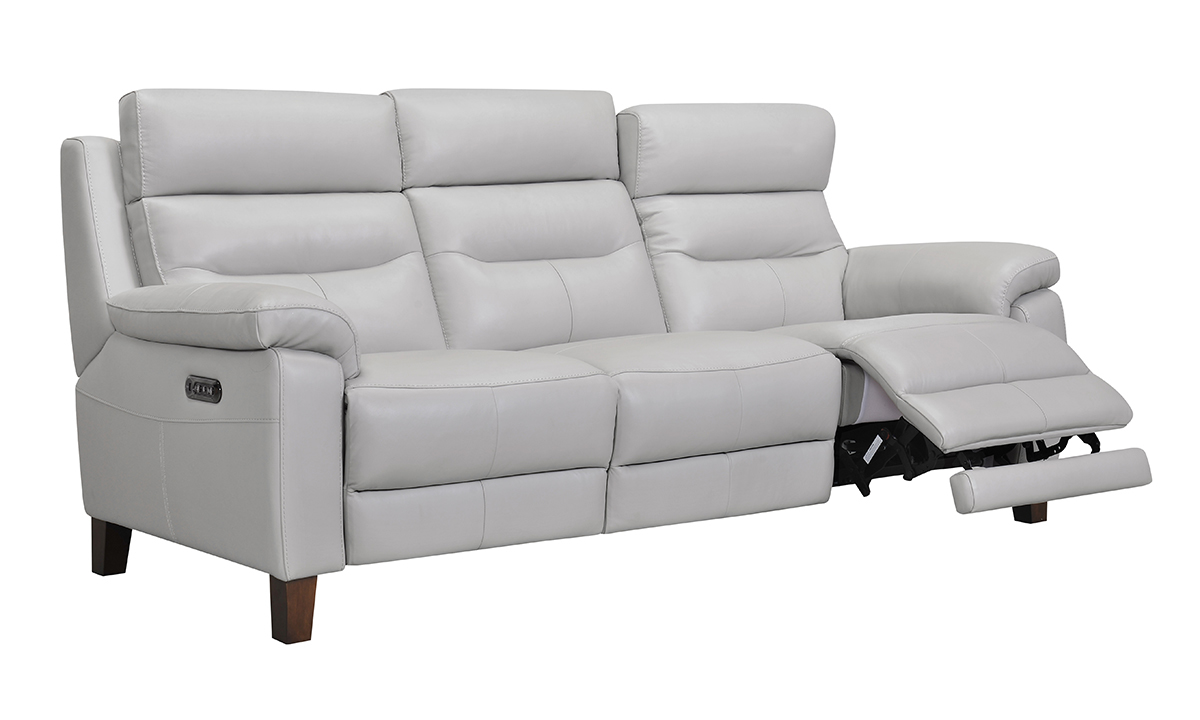 Jessica Jacobs Bergamo Dove Leather Power Reclining Sofa