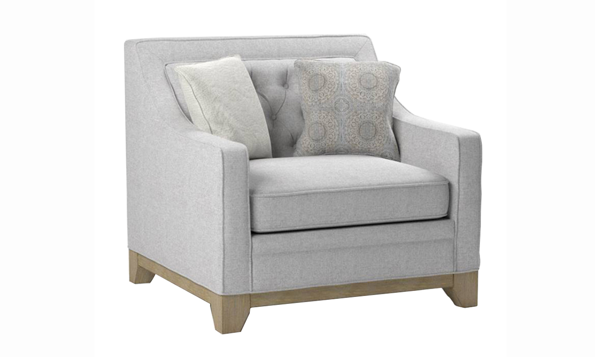 Andorra Grey Tufted Chair