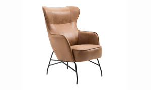 Perry Saddle Brown Accent Chair