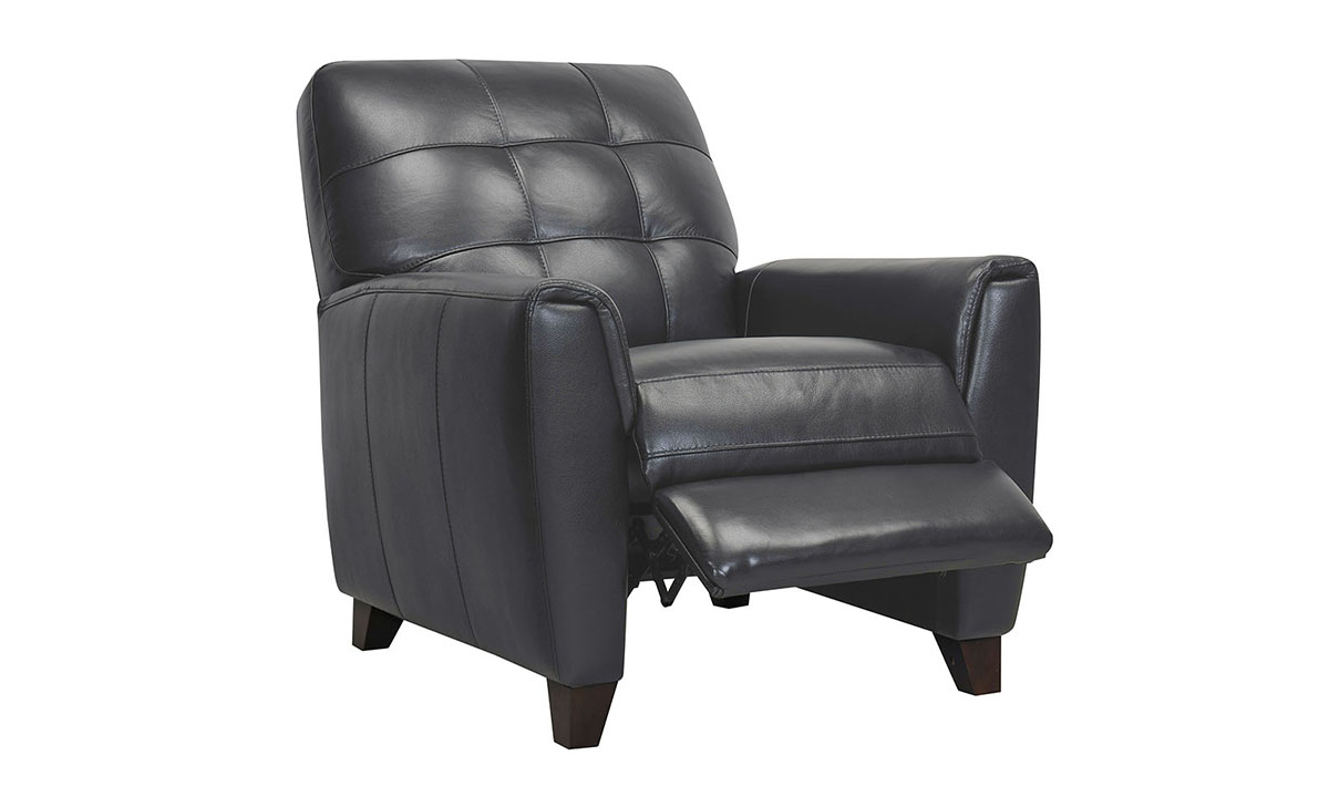 Metro Pewter Leather Recliner