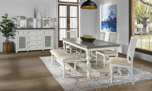 Stone Ivory and Grey 5-Piece Dining Set