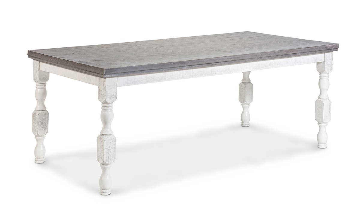 Stone Ivory and Grey Dining Table