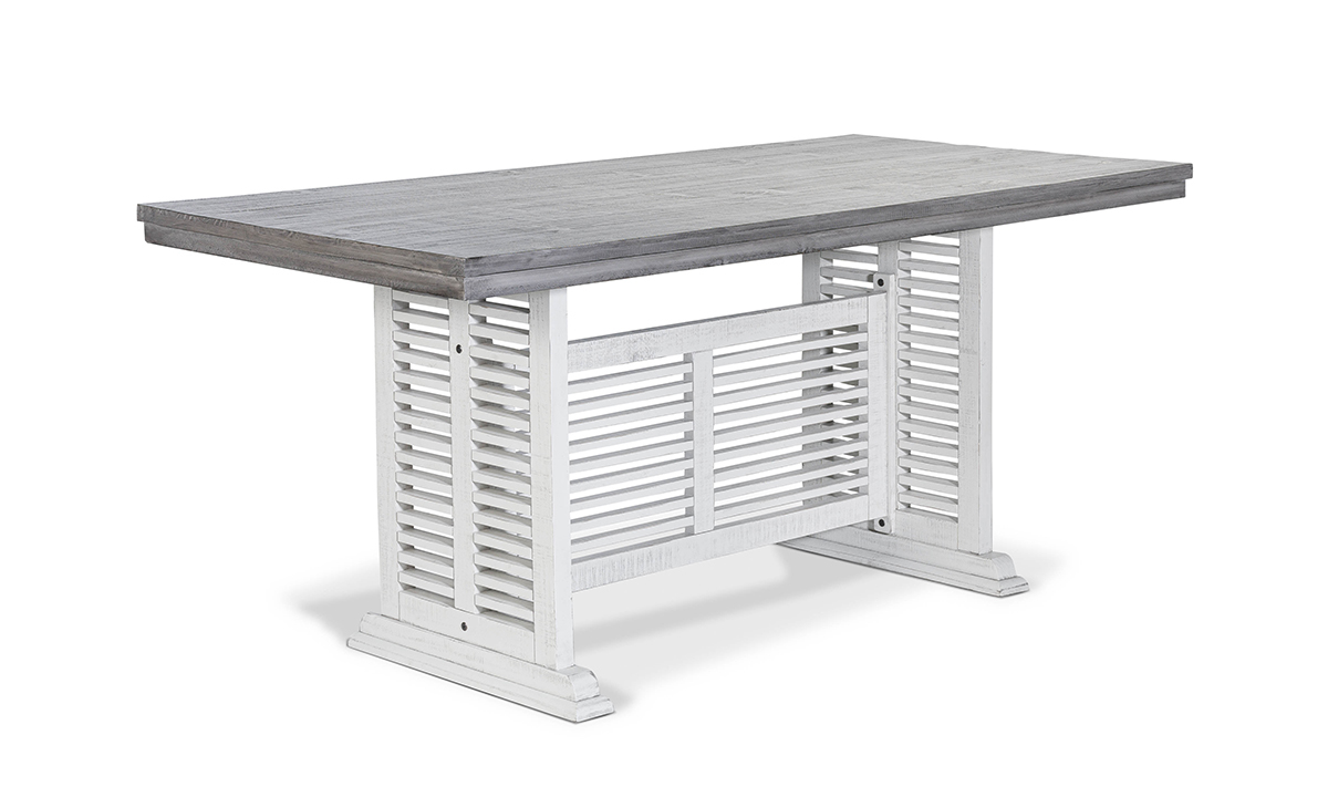 Stone Ivory and Grey Counter Height Dining Table
