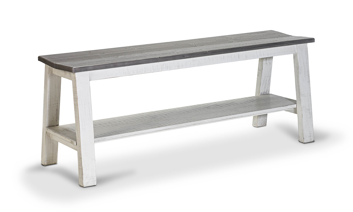 Stone Ivory Counter Height Dining Bench