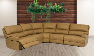 Power Reclining Sectional Floyd Wheat by Flexsteel