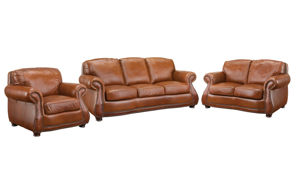 Rocky Mountain Leather Brandy Alligator 3-Piece Living Set