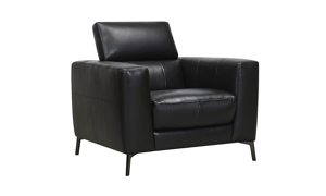 Violino black leather chair from the uptown collection.