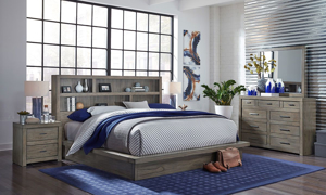 Modern Loft Greystone Bookcase Bedroom Sets